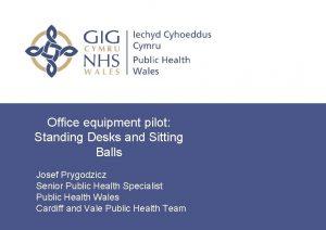 Office equipment pilot Standing Desks and Sitting Balls