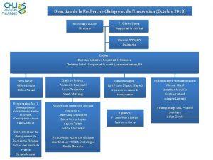 Direction de la Recherche Clinique et de lInnovation