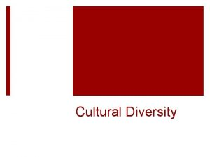 Cultural Diversity Bell Work Cultural Diversity 127 What