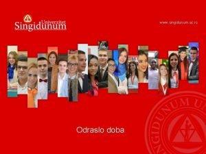 www singidunum ac rs Odraslo doba PERIODIZACIJA ODRASLOG