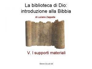 La biblioteca di Dio introduzione alla Bibbia di