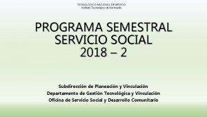 TECNOLGICO NACIONAL DE MXICO Instituto Tecnolgico de Hermosillo