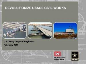REVOLUTIONIZE USACE CIVIL WORKS U S Army Corps