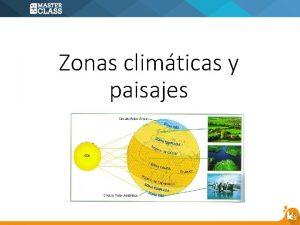 Zonas climticas y paisajes Esto sucede porque los