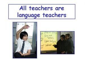 All teachers are language teachers Inclusive strategies for