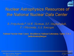 Nuclear Astrophysics Resources of the National Nuclear Data