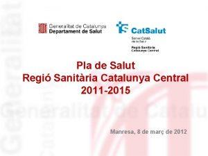 Pla de Salut Regi Sanitria Catalunya Central 2011
