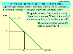 Charles van Marrewijk Growth and the costs of
