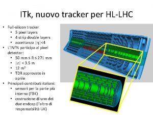 ITk nuovo tracker per HLLHC Fullsilicon tracker 5