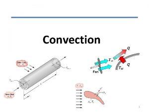 Convection 1 Introduction to Convection Convection denotes energy