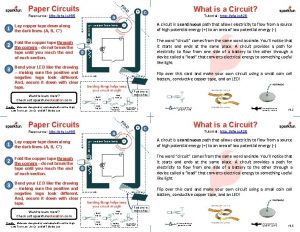 Paper Circuits Resource http sfe ior 65 1