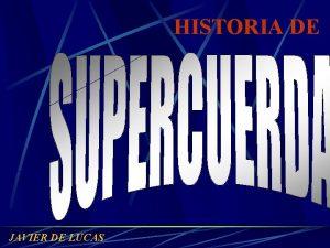 HISTORIA DE JAVIER DE LUCAS En 1968 un