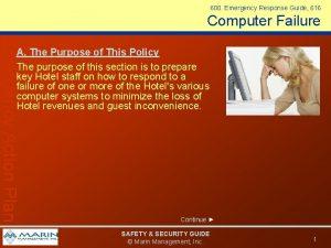 600 Emergency Response Guide 616 Computer Failure Emergency