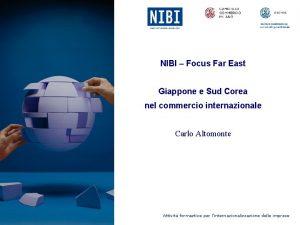 NIBI Focus Far East Giappone e Sud Corea