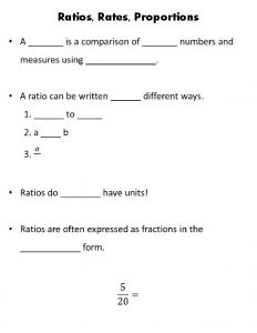 Ratios Rates Proportions To simplify ratio 1 Write