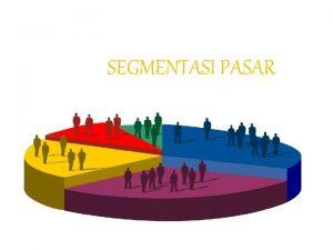 SEGMENTASI PASAR Pengertian Segmentasi Pasar Pemasaran sasaran Targeting