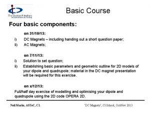 Basic Course Four basic components on 311013 i