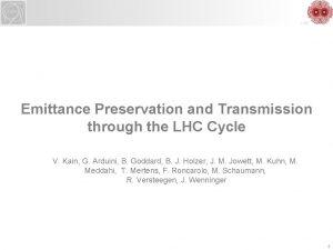 LHC Emittance Preservation and Transmission through the LHC