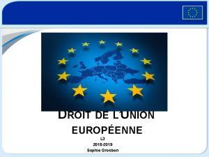 DROIT DE LUNION EUROPENNE L 3 2018 2019