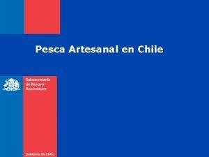 Pesca Artesanal en Chile La Pesca en Chile