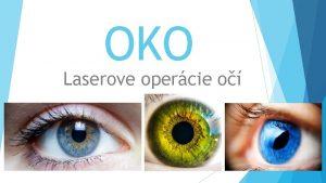 OKO Laserove opercie o 1 Teoretick as Oko