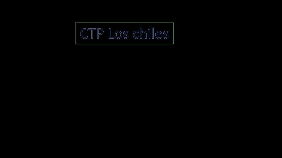 CTP Los chiles Cules son los avances tecnolgicos