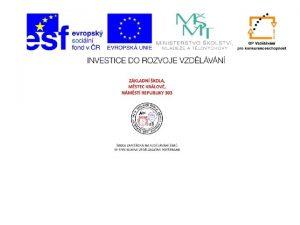 Prezentace Prodopis pro 7 ronk Opakovn ukzky Plotnci