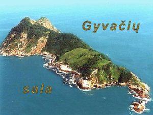 Gyvai sala Netoli Brazilijos krant madaug pietus nuo