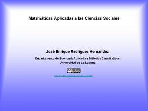 Matemticas Aplicadas a las Ciencias Sociales Jos Enrique