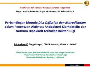 Konferensi dan Seminar Nasional Jabatan Fungsional Bogor Institut