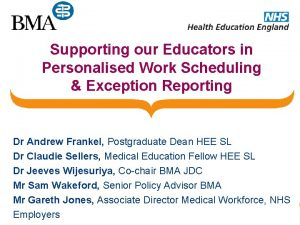 Supporting our Educators in Personalised Work Scheduling Exception