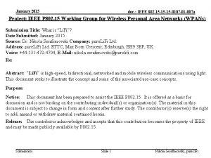 January 2015 doc IEEE 802 15 15 15