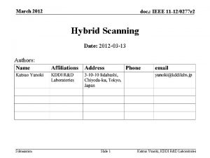 March 2012 doc IEEE 11 120277 r 2