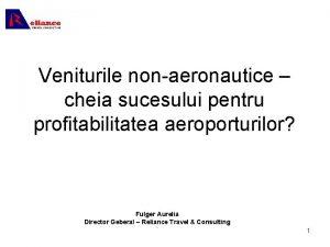 Veniturile nonaeronautice cheia sucesului pentru profitabilitatea aeroporturilor Fulger