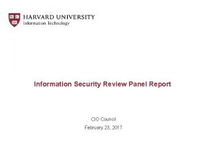Information Security Review Panel Report CIO Council February