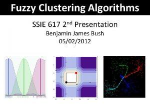 Fuzzy Clustering Algorithms SSIE 617 2 nd Presentation