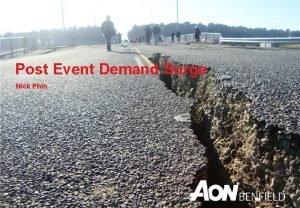 Post Event Demand Surge Nick Phin Agenda What