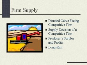 Firm Supply Demand Curve Facing Competitive Firm Supply