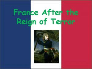 France After the Reign of Terror France after