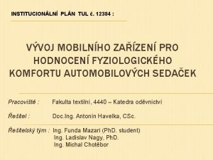 INSTITUCIONLN PLN TUL 12384 VVOJ MOBILNHO ZAZEN PRO