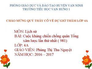 PHNG GIO DC V O TO HUYN VN