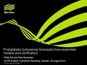 Probabilistic turbulence forecasts from ensemble models and verification