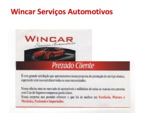 Wincar Servios Automotivos EMail Wincar Servios Automotivos Wincar