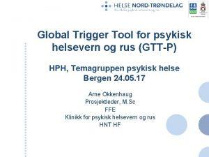 Global Trigger Tool for psykisk helsevern og rus