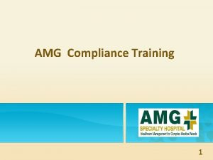 AMG Compliance Training 1 e c n a