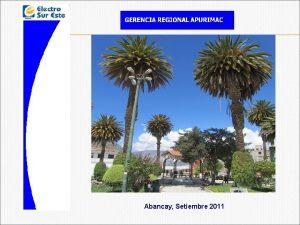 Abancay Setiembre 2011 INDICE 1 ASPECTOS GENERALES 2