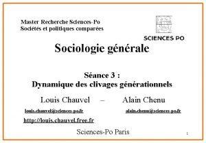Master Recherche SciencesPo Socits et politiques compares Sociologie