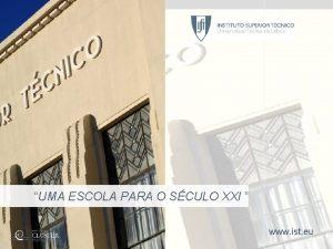 INSTITUTO SUPERIOR TCNICO Universidade Tcnica de Lisboa UMA