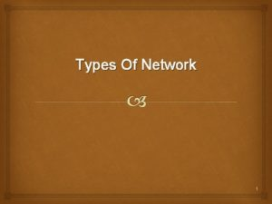 Types Of Network 1 Computer Network A network