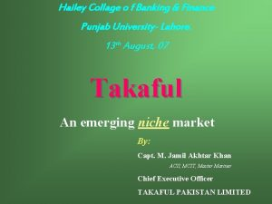Hailey Collage o f Banking Finance Punjab University